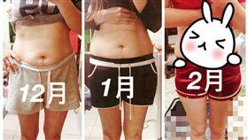 不少女孩為追求纖細身材,會上網購買瘦身產品,但有女網友抱怨,她向微商買了2罐減肥產品,沒想到過了2個月,她的體重沒減輕,還胖了1公斤,就連體脂也增加了。不少網友看到原po近2個月的體態圖後,紛紛直喊:「效果太差了,乾脆上健身房運動!(圖/翻攝自爆料公社網站)