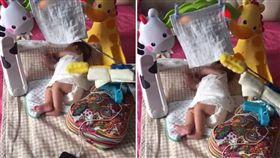 哄寶寶入睡是不少媽媽的夢魘,有網友發揮創意,自製超狂「哄睡神器」,不僅可以拍背安撫小孩,還可以自動搧風,讓小孩快速進入夢鄉。不少網友看到後掀起熱議,暴動直喊「找到救星了!趕快量產啊」。(圖/翻攝自抖音)