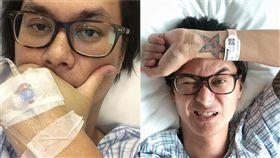 許冠傑長子許懷欣驚傳罹患膀胱癌。(合成圖/翻攝自IG)