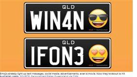 澳洲,表情符號,車牌,笑臉,愛心(圖/翻攝自《wcvb》網站)