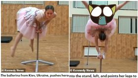 烏克蘭,俄羅斯,芭蕾舞,下體,特技(圖/翻攝自每日郵報)