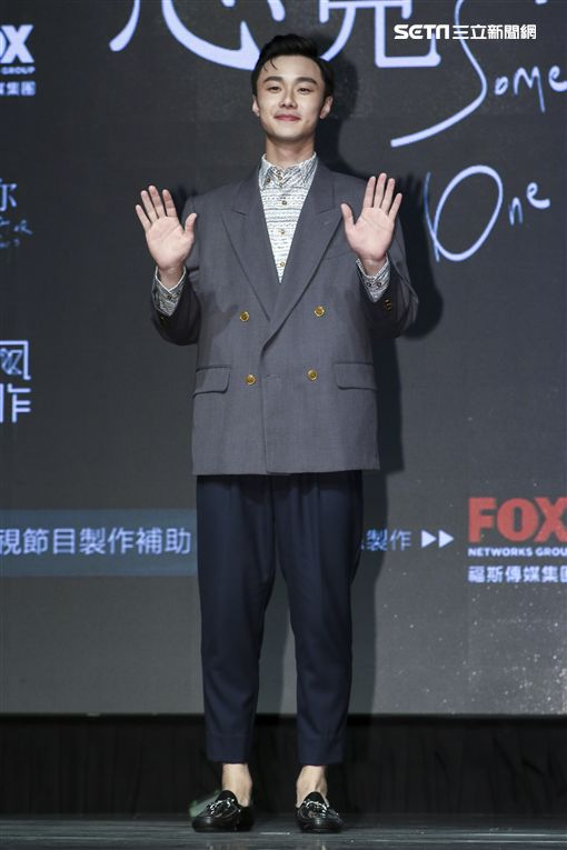 施柏宇出席新戲《想見你》記者會。(圖/記者林士傑攝影)