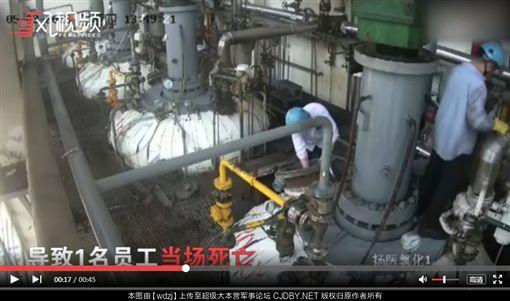 大陸,意外,化工,氫化爐,閃爆 圖/翻攝自搜狐新聞