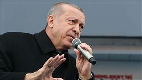 土耳其執政黨選舉造勢  艾爾段致詞土耳其將在3月31日舉行省巿長選舉,執政的正義發展黨12日在北部卡斯塔莫努省造勢。圖為總統艾爾段致詞。(土耳其總統府提供)中央社記者何宏儒安卡拉傳真  108年2月13日