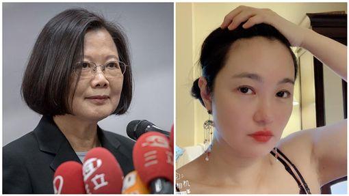 張瑞竹,蔡英文,合成圖/翻攝自臉書