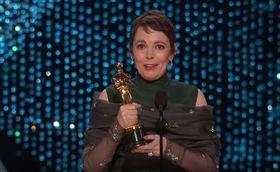 Olivia Colman,Glenn Close,奧斯卡,頒獎典禮,最佳女主角,真寵圖/翻攝自YouTube