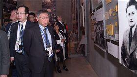 台北市長柯文哲參觀以色列猶太人大屠殺紀念館 圖/記者邱聖雯攝影