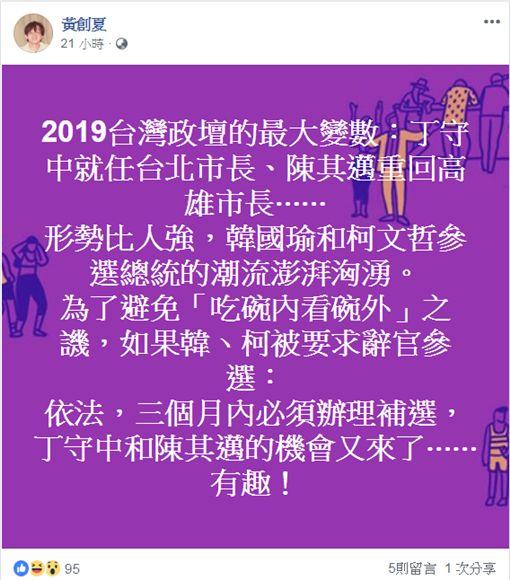 黃創夏臉書