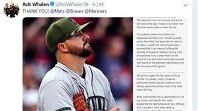 ▲華倫透過推特宣布結束3年大聯盟生涯。(圖/翻攝自華倫推特)