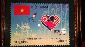 歡迎川金二會 越南發行特種郵票