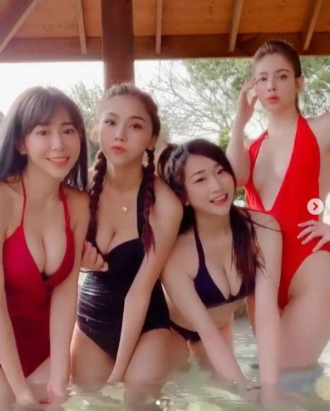蕾拉、梓梓(董梓甯)、Una(林書葶)和安妮/IG