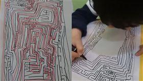 5歲童輕鬆畫複雜迷宮圖 網友驚訝:可以自費買一張嗎?(圖/爆怨公社)