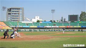 ▲統一獅與斗山熊二軍春訓練習比賽。