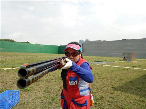 ▲女子不定向飛靶項目林怡君。(圖/體育署提供)