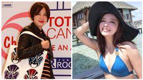 黃小柔、愛紗 合成圖/蒂欣有限公司提供、翻攝自臉書