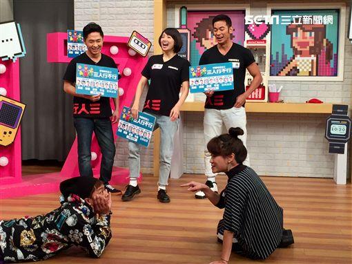 亮哲、阿喜、邱逸峰宣傳《三人行不行》圖/趣你的娛樂提供