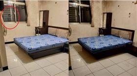 女網友分享老舊公寓租屋經驗,搬家前的照片竟拍到恐怖畫面。(圖/翻攝靈異公社)