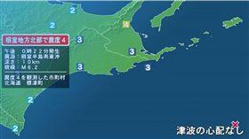 日本北海道今(2)日發生6.2地震。(圖/翻攝fnn網站)