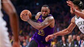 NBA/詹皇表現全能 湖人仍輸公鹿 NBA,洛杉磯湖人,LeBron James 翻攝自湖人官方推特