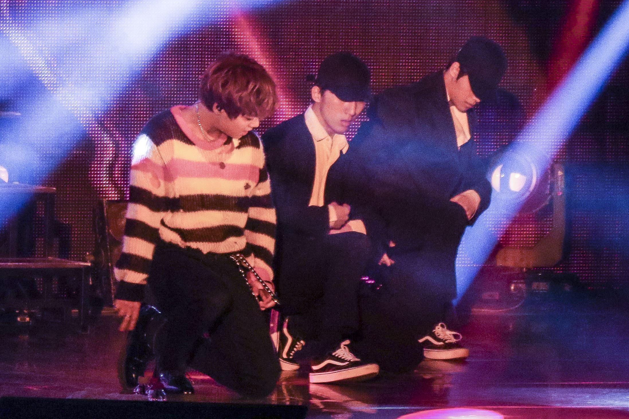 韓國男星朴志訓海外首場見面會,現場粉絲熱情不斷。(記者林士傑/攝影)