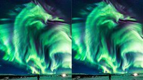 冰島,澳洲,極光,巨龍(圖/翻攝自推特)