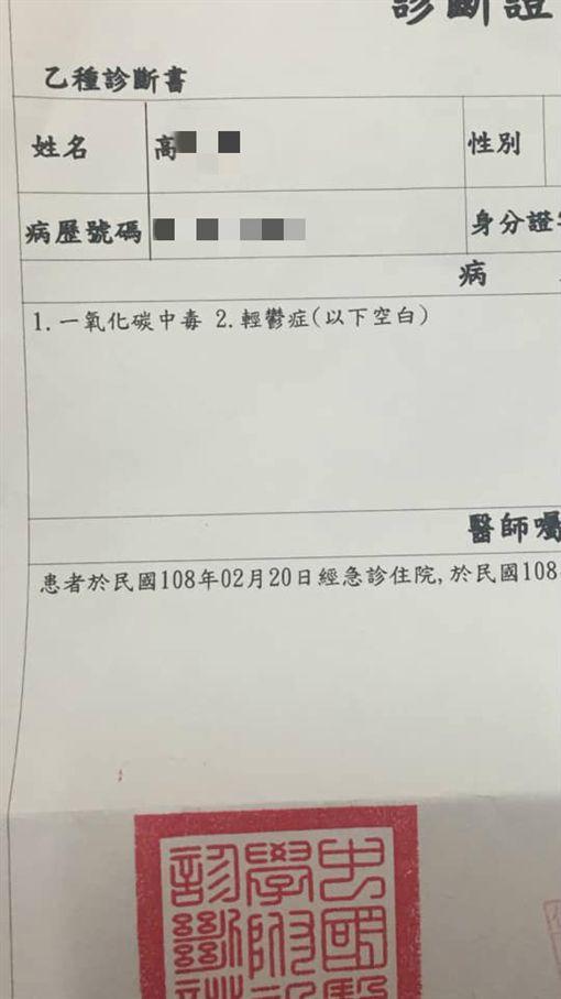 台中,輕生,望高寮,燒炭,恩人(圖/翻攝自爆料公社)