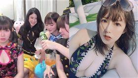 ▼▲實況主阿樂、DD、Baby66與妮妮子一起變裝慶祝。(圖/翻攝自twitch)