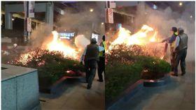 台北,台北轉運站,花圃,火警,爆料公社,菸蒂