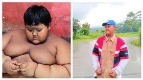 印尼最胖男孩帕馬納減肥成功。(圖/翻攝自Arya Permana臉書)