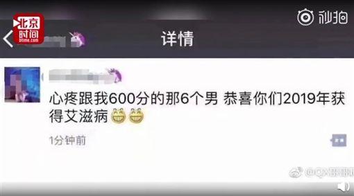 中國大陸女子在網路上傳性愛影片(圖/翻攝自北京時間)