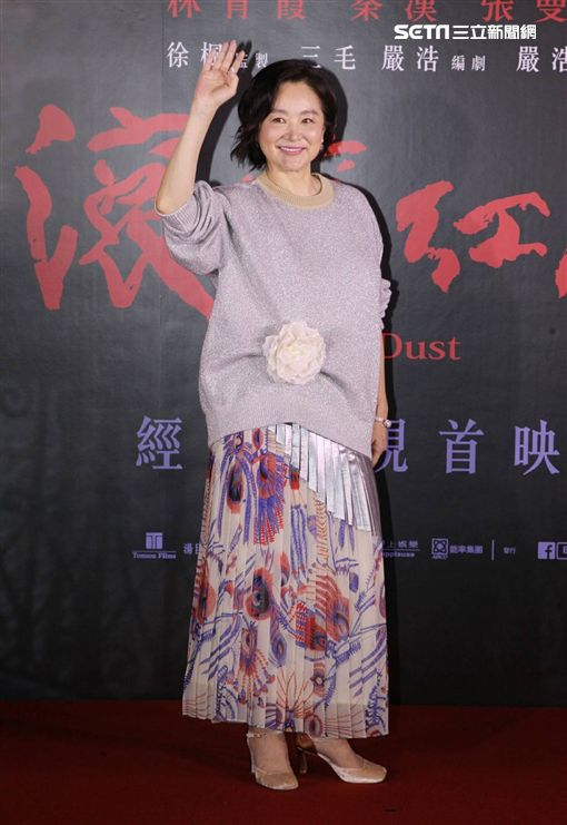 林青霞現身《滾滾紅塵》首映。(圖/記者邱榮吉攝影)