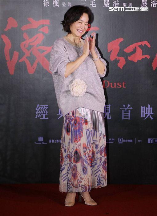 林青霞返台出席《滾滾紅塵》。(圖/記者邱榮吉攝影)