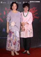 林青霞、徐楓盛裝出席經典電影「紅塵滾滾」數位修復版首映會。(記者邱榮吉/攝影)