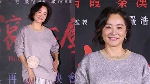 林青霞專程回國出席「紅塵滾滾」數位修復版首映會。(圖/記者邱榮吉攝影)