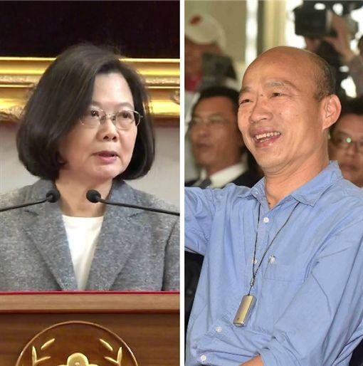 蔡英文,韓國瑜 組合圖,資料照