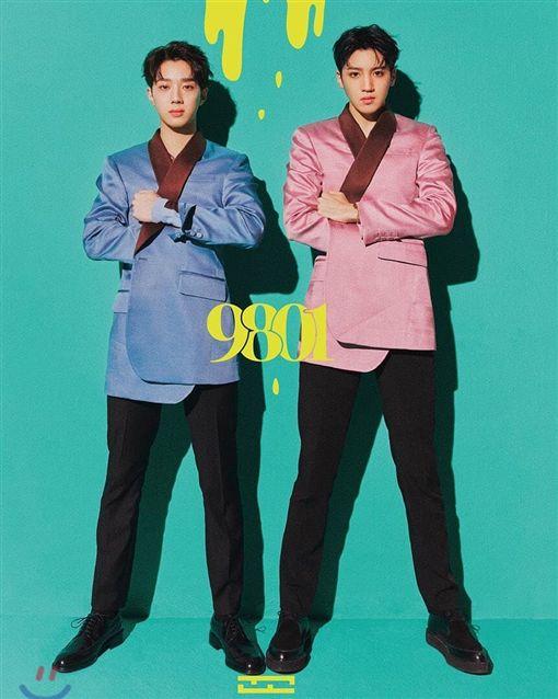 賴冠霖與師兄組成新團《Wooseok X Kuanlin》。(圖/翻攝自Wooseok X KuanlinIG)