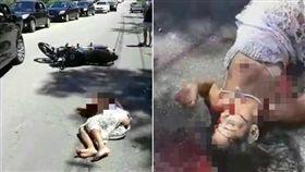 她騎車慘摔露乳躺血泊中…路人全拒救!原因讓人拳頭硬了 外媒