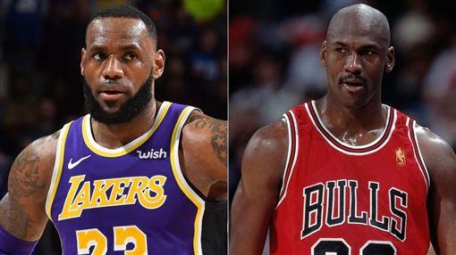 NBA/詹皇生涯總得分超越喬丹!NBA,洛杉磯湖人,LeBron James,Michael Jordan翻攝自推特