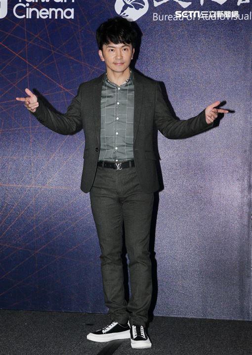 電視劇組「國際橋牌社」演員唐從聖,2019香港國際影視展行前記者會。(記者邱榮吉/攝影)