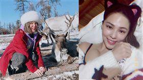 熊熊隨愛玩客《愛玩客》節目前往外蒙古,許多新鮮的第一次體驗。(圖/翻攝自熊熊臉書)