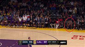 NBA/湖人內訌?軟豆竟不跟隊友坐 NBA,洛杉磯湖人,LeBron James,Rajon Rondo,內訌 翻攝自推特