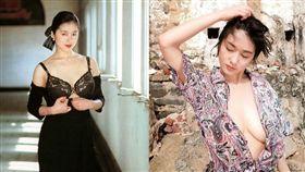 日本女星青山知可子性感身材顏值之高,是不少5、6年級生夢中情人。(圖/翻攝自IG)