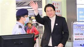 ▲基隆市長林右昌啟程訪問美國。(圖/翻攝林右昌臉書)