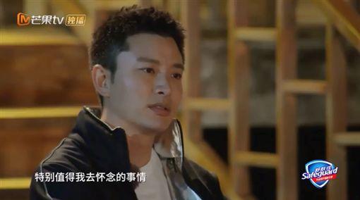 賈乃亮、李小璐、甜馨、哈哈農夫。(圖/芒果TV)