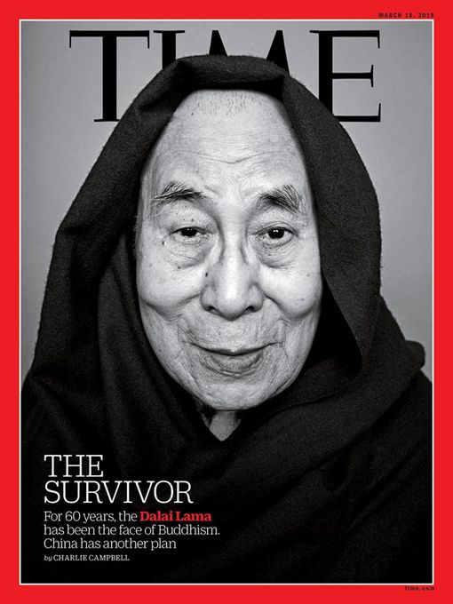 西藏流亡精神領袖達賴喇嘛近日表示,未來他離世後的2、3年內,中國當局或許會選擇一名達賴喇嘛轉世,但藏人不會認可這樣的選擇;600萬藏人信任他,只有他能代表600萬藏人。(圖/翻攝自TIME雜誌)