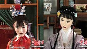 (圖/翻攝自微博)中國,紅樓夢,蠟像,紙紮人,賈寶玉,林黛玉