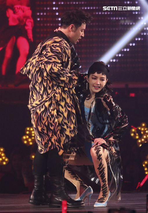 潘瑋柏演唱會嘉賓謝金燕。(圖/記者林士傑攝影)
