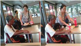 菲律賓,祖孫,速食店,暖舉,乞丐(圖/翻攝自臉書)
