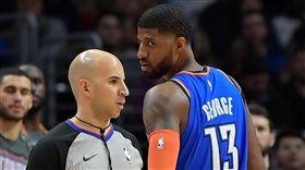 NBA/怒譙裁判 喬治收77萬罰單 NBA,奧克拉荷馬雷霆,Paul George 翻攝自推特