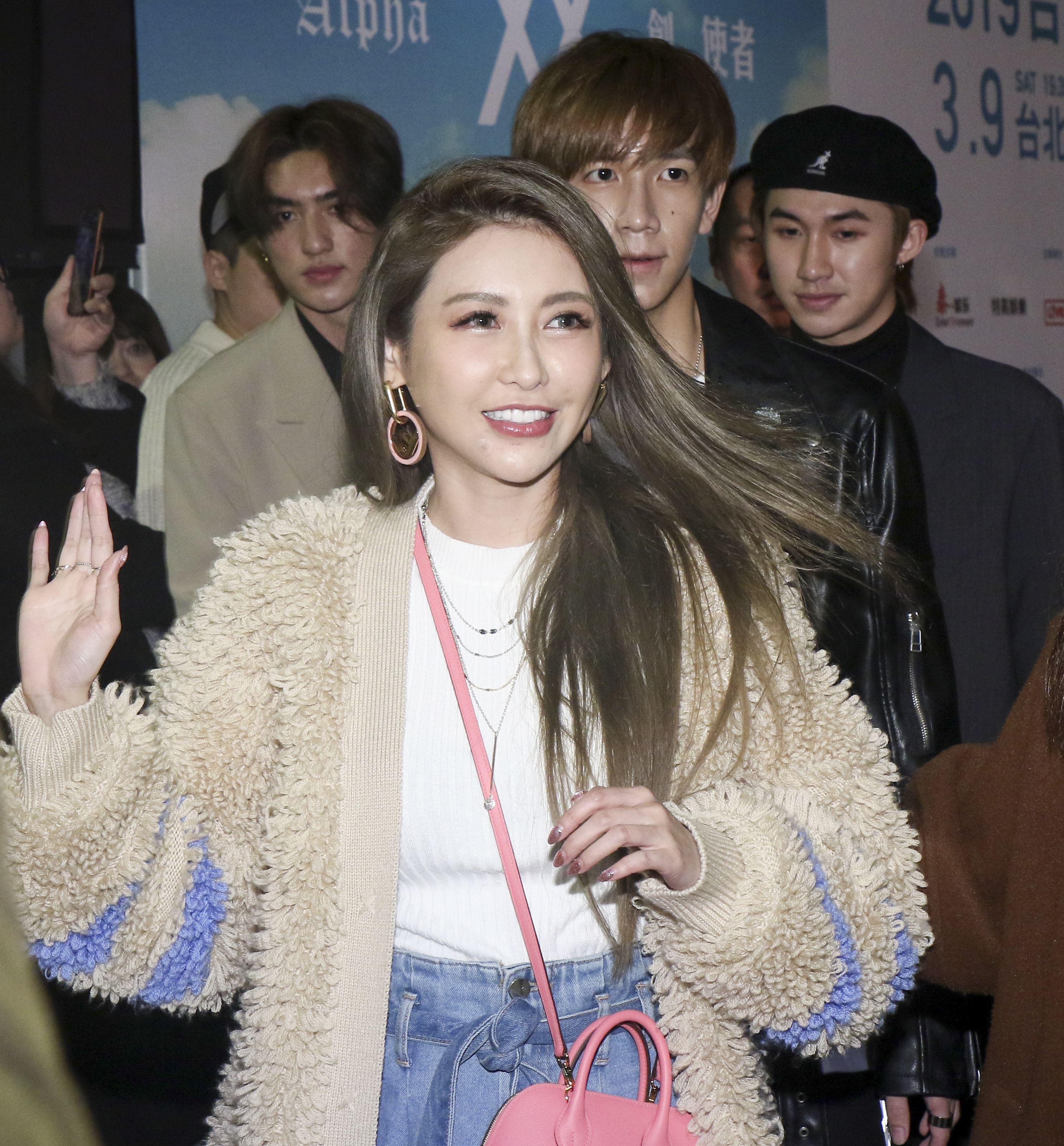 潘瑋柏Alpha創使者世界巡迴演唱會2019台北站出席嘉賓簡愷樂。(記者林士傑/攝影)